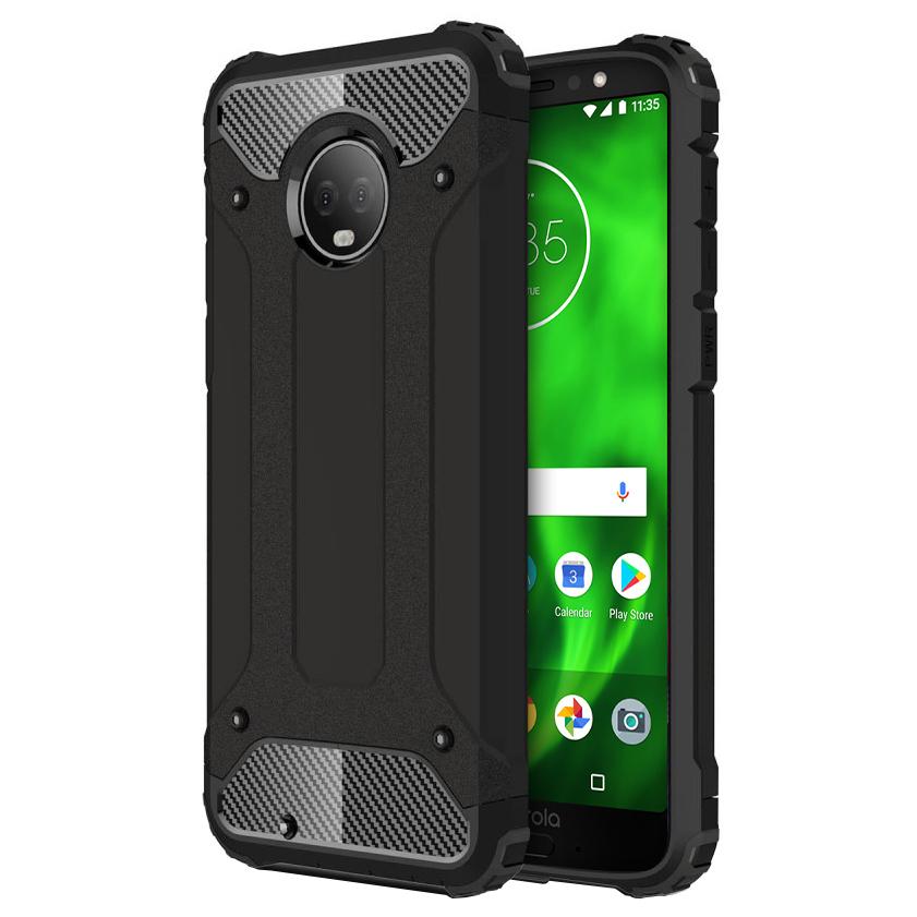 half off 10006 06564 Military Defender Shockproof Case - Motorola Moto G6 (Black)